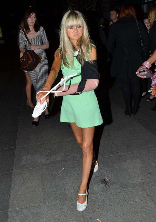 Nikki Grahame attends the Celeb Salon wrap party at Buck Whaleys nightclub, Dublin, on June 28 2012.