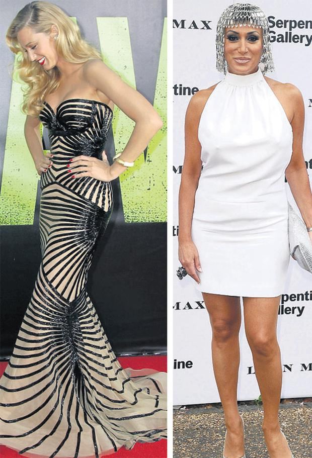 Blake Lively and Nancy Dell'olio.