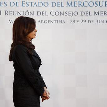 Argentina's President Cristina Fernandez at the Mercosur summit (AP)