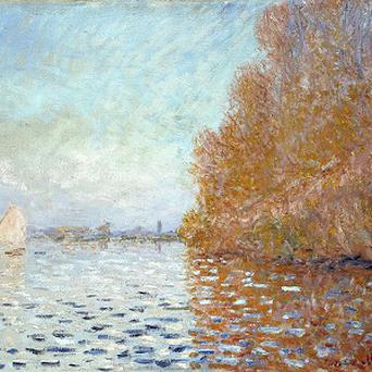 Monet's Argenteuil Basin With A Single Sailboat was seriously damaged by a member of the public at the National Gallery of Ireland