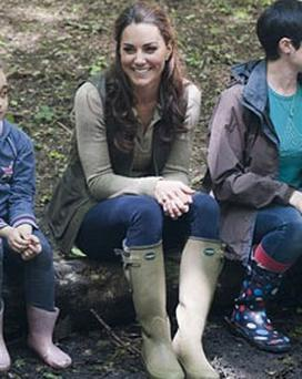 Kate Middleton pictured wearing Le Chameau Vierzonard wellingtons