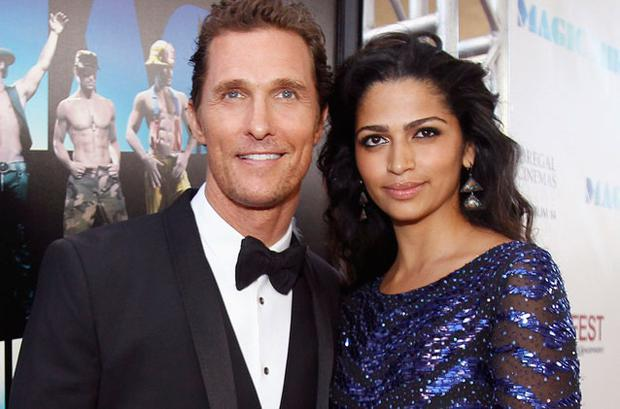 Matthew McConaughey and his wife Camila Alves. Photo: Reuters