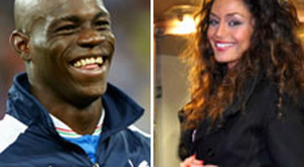 CONTROVERSIAL ItaIian footballer Mario Balotelli (left) and the Manchester City player's girlfriend Raffaella Fico. Photo: Getty Images