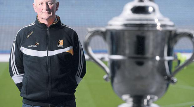 Brian Cody in Croke Park yesterday ahead of Sunday's Leinster SHC final between Kilkenny and Galway DAVID MAHER/SPORTSFILE