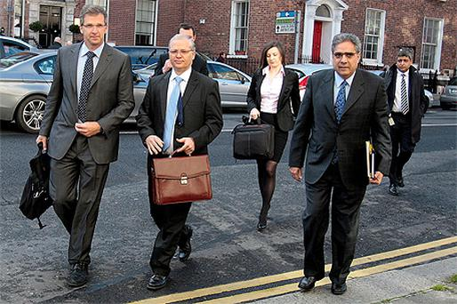 Members of the Troika arriving at the Department of Finance to begin their sixth quarterly assessment of Ireland's bailout programme