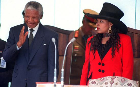 Nelson Mandela (L) and his eldest daughter his eldest daughter Zenani Mandela-Dlamini. Photo: Getty Images