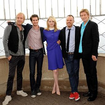 Denis Leary (far right) said working on The Amazing Spider-Man was like being on an indie film