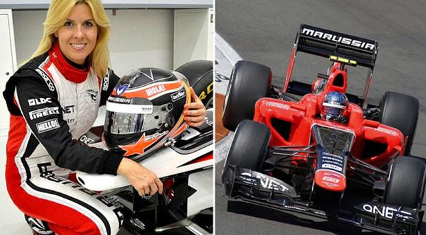 Marussia test driver Maria de Villota was injured during a test session at RAF Duxford