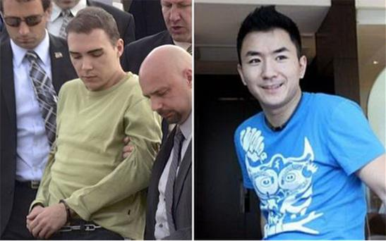 Luka Rocco Magnotta (left) is accused of killing Chinese student Jun Lin. Photo: Reuters