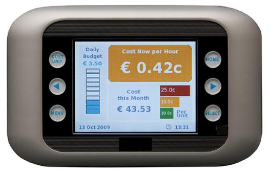 This is what one of the smart meters, used to monitor home energy consumption and cost, will look like.