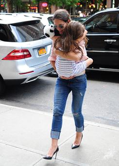Katie Holmes and Suri Cruise are seen in recently New York City. Photo: Getty Images