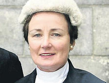 Justice Mary Finlay Geoghegan is presiding