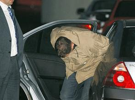 Michael Byrne of Old Tower Crescent, Clondalkin, arriving at Dublin District Court in 2008