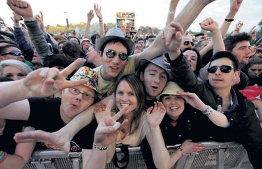 Happy revellers escaped the rain at Thursday's Stone Roses gig but unfortunately not muddy fields