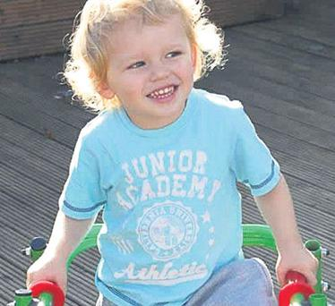 Jacob Foley Keenan (3) will be in hospital for another month