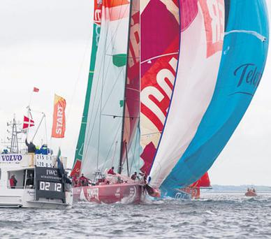 ALL AT SEA: Galway has drawn huge crowds to the City of the Tribes watch the events during Volvo Ocean race week