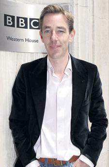HE'S AT HIS AUNTIE'S: Presenter Ryan Tubridy at the BBC