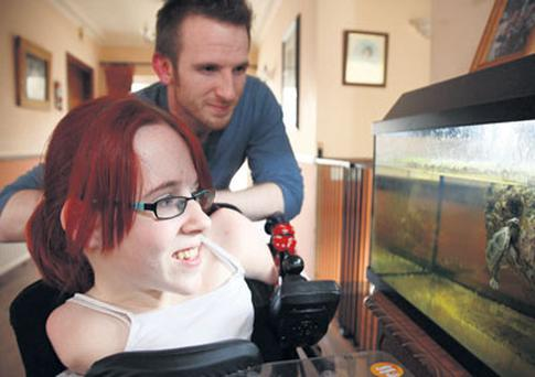 INSPIRATIONAL: Joanne O'Riordan and her brother Steven with new pet turtle Enda, named after the Taoiseach
