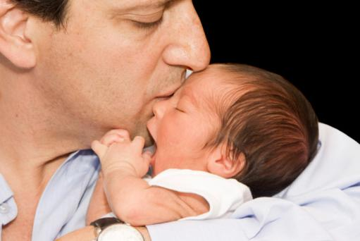 Father and Newborn baby