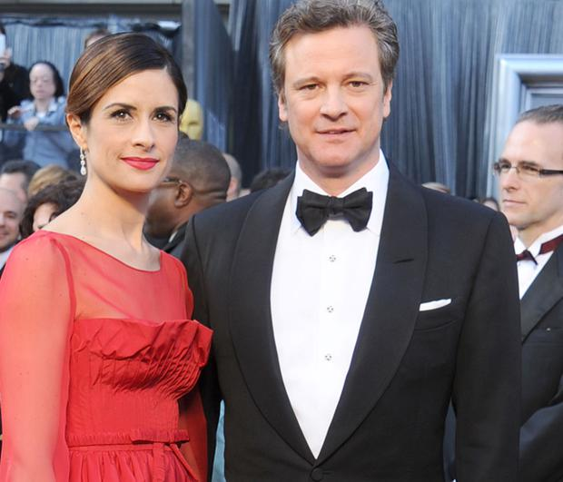 Livia with her husband Colin Firth.