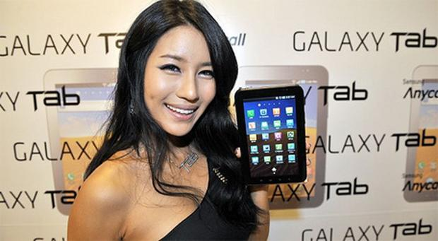 Samsung sold 1.6 million tablets from January to March, giving it 7.5pc of the market