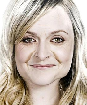 Undated BBC handout photo of how Radio 1 DJ Fearne Cotton may look when she hits 65. PRESS ASSOCIATION Photo. Issue date: Tuesday July 10, 2012. The presenter has been digitally aged with wrinkles and sagging cheeks to tie in with BBC1's season looking at the issues of an ageing population. And Cotton said she may pay more attention to her skincare regime after seeing the results. See PA story SHOWBIZ Cotton. Photo credit should read: BBC/PA Wire NOTE TO EDITORS: This handout photo may only be used for editorial reporting purposes for the contemporaneous illustration of events, things or the people in the image or facts mentioned in the caption. Reuse of the picture may require further permission from the copyright holder.