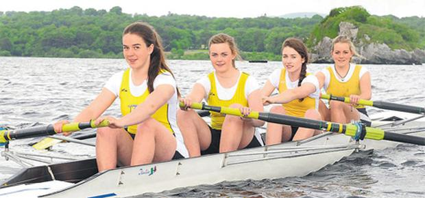 Muckross Rowing Club members, from front of boat, Aileen Crowley, Aoife Cooper, Kara O'Connor and Katherine Cremin.