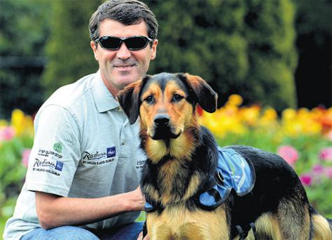 Roy Keane on his most recent visit to Ireland to promote the Irish Guide Dogs for the Blind's fundraising campaign.