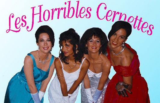 This image of the Les Horribles Cernettes was the first picture to be posted on the World Wide Web: From left: Angela Higney, Michele de Gennaro, Colette Marx-Neilsen, Lynn Veronneau