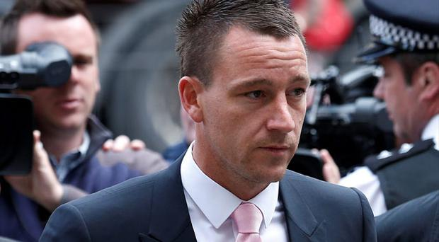 Chelsea defender John Terry arrives at Westminster Magistrates' Court in central London. Photo: Reuters