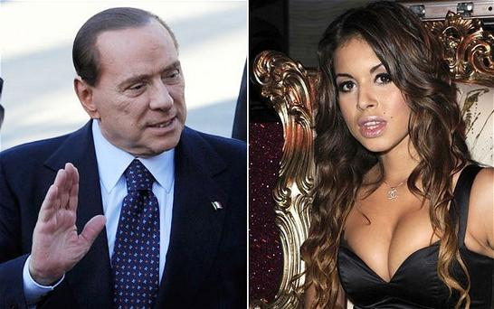 Silvio Berlusconi and the Moroccan-born dancer Karima El Mahroug