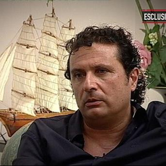 Francesco Schettino, the captain of the Costa Concordia cruise ship which ran aground in January off the coast of Italy, killing more than 30 people (AP Photo/Mediaset, HOEP)