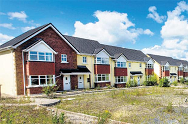 Properties on the Glendale estate in Tullow, Co Carlow, which were sold at auction yesterday