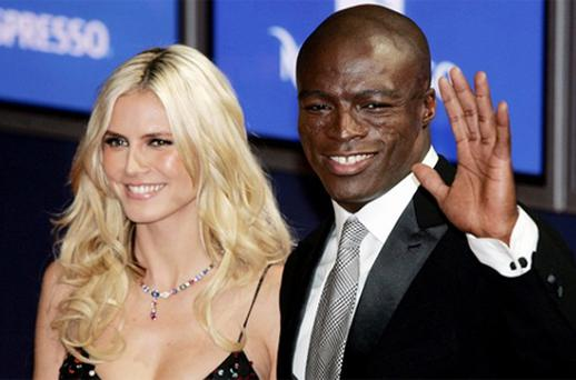 Supermodel Heidi Klum and British singer Seal. Photo: AP