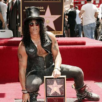 Slash was honoured with his own Hollywood Walk of Fame ceremony