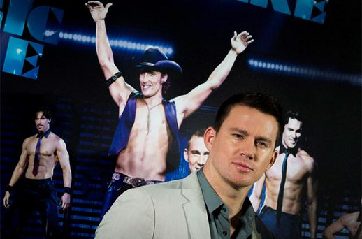 Channing Tatum poses for pictures during a photocall promoting 'Magic Mike' in Berlin. Photo: Reuters