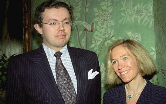Eva Rausing (R) and her husband Hans Kristian Rausing at Winfield House, London. Photo: AP