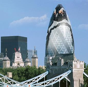 London Zoo chiefs hope to cover the iconic Gherkin building in a penguin-print wrapping (Steve Vidler/ZSL London Zoo/PA)