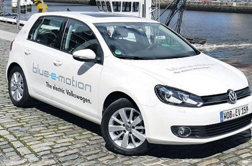 POWER TO THE PEOPLE: The electric Golf won't be arriving in Ireland until 2014