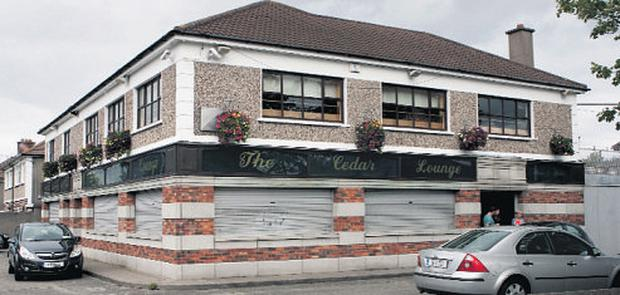 Cedar Lounge, Raheny, was robbed yesterday