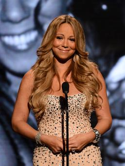 LOS ANGELES, CA - JULY 01: Presenter Mariah Carey speaks onstage during the 2012 BET Awards at The Shrine Auditorium on July 1, 2012 in Los Angeles, California. (Photo by Michael Buckner/Getty Images For BET)