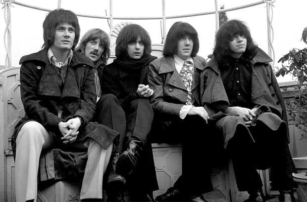 Members of the band Deep Purple (from the left) Rod Evans, Jon Lord, Ritchie Blackmore, Nicky Simper and Ian Paice. Photo: PA