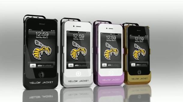 The design of the new stun phone case.