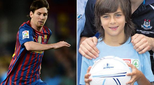 Zak Gilsenan will be dreaming of following in Lionel Messi's footsteps