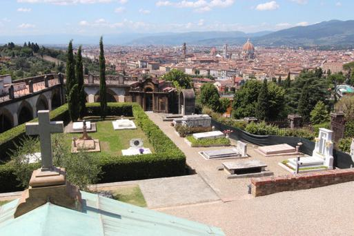 This picture shows the view from San Minato al Monte church in Florence on June 14, 2012. Princess Carolina of Bourbon Parma, the youngest daughter of Princess Irene of the Netherlands will marry Albert Brenninkmeijer in the San minato church on June 16. AFP PHOTO / CLAUDIO GIOVANNINI (Photo credit should read CLAUDIO GIOVANNINI/AFP/GettyImages)