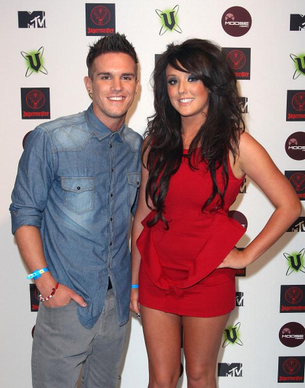 Gaz Beadle (L) and Charlotte Letitia Crosby from British reality show, 'Geordie Shore' arrive at the MTV Snow Jam 2011 VIP launch event on July 14, 2011 in Melbourne, Australia. (Photo by Graham Denholm/WireImage)