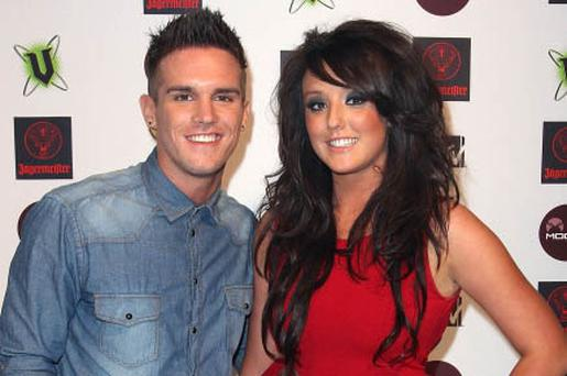 MELBOURNE, AUSTRALIA - JULY 14: Gaz Beadle (L) and Charlotte Letitia Crosby from British reality show, 'Geordie Shore' arrive at the MTV Snow Jam 2011 VIP launch event on July 14, 2011 in Melbourne, Australia. (Photo by Graham Denholm/WireImage)