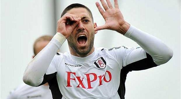 Wanted man: Clint Dempsey's performances for Fulham have caught the eye