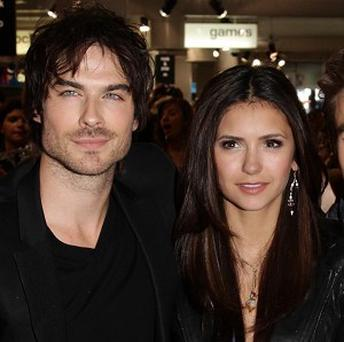 Ian Somerhalder and Nina Dobrev laughed off reports of being in the frame for roles in a film version of Fifty Shades Of Grey