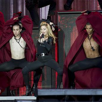Madonna performs in Hyde Park (AP/Jonathan Short)